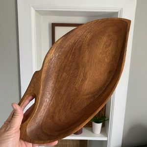 Vintage Accents - Vintage boho wood catch all tray